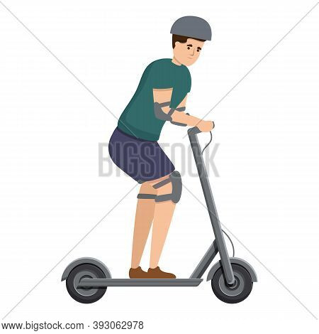 Sport Electric Scooter Icon. Cartoon Of Sport Electric Scooter Vector Icon For Web Design Isolated O