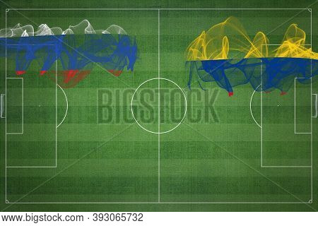 Russia Vs Colombia Soccer Match, National Colors, National Flags, Soccer Field, Football Game, Compe