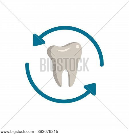 Tooth Renewal Icon. Simple Element From Dentistry Collection. Creative Tooth Renewal Icon For Web De