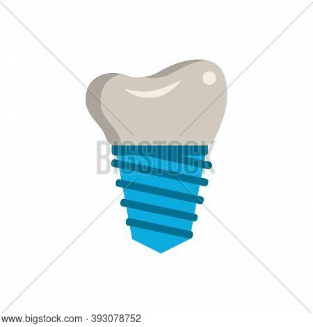 Dental Implant Icon. Simple Element From Dentistry Collection. Creative Dental Implant Icon For Web
