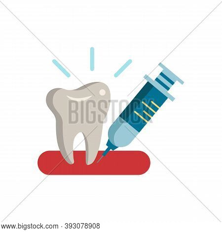 Prick In The Gum Icon. Simple Element From Dentistry Collection. Creative Prick In The Gum Icon For