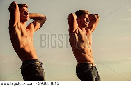 Aim And Success. Twins Muscular Men. Athletic Man Sexy Body. Success Is Getting What You Want. Promo