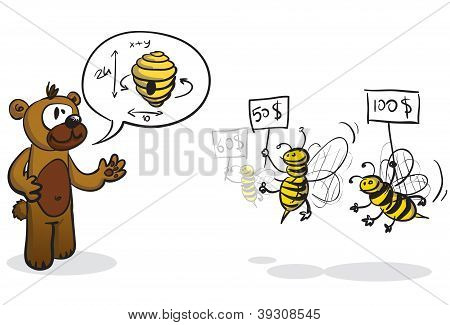 Bidder bees and buyer bear
