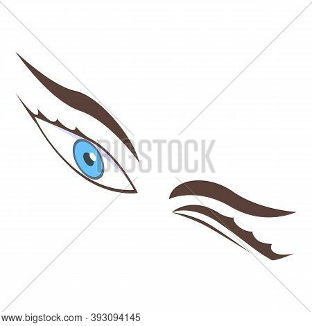 Clipping Eyes Icon. Isometric Of Clipping Eyes Vector Icon For Web Design Isolated On White Backgrou