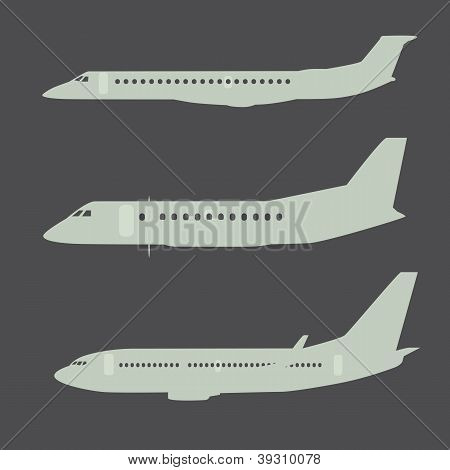 Aircraft Silhouettes Side View Part 2
