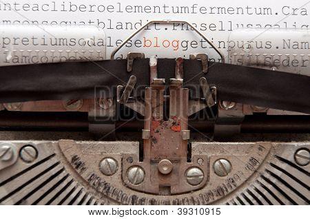 concetto di Blog
