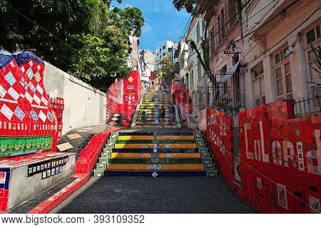 Rio De Janeiro, Brazil - 07 May 2016: Selaron Steps In Rio De Janeiro, Brazil
