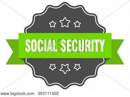Social Security Label. Social Security Isolated Seal. Sticker. Sign