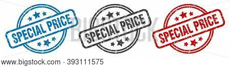 Special Price Stamp. Special Price Round Isolated Sign. Special Price Label Set