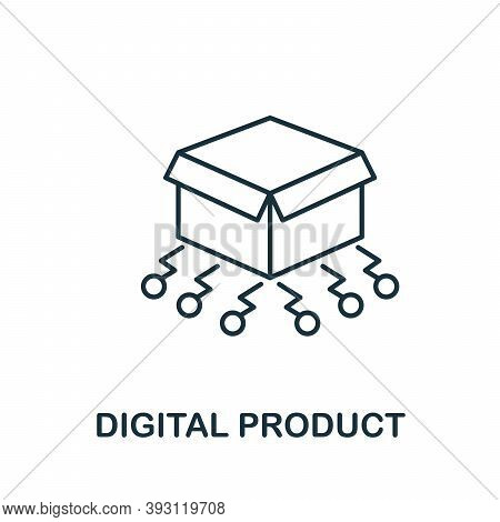 Digital Product Line Icon. Simple Element From Digital Disruption Collection. Outline Digital Produc