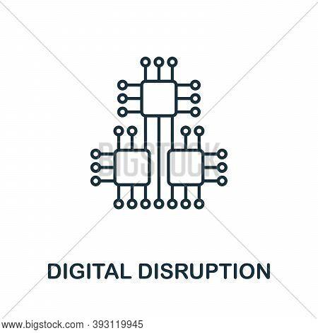 Digital Disruption Line Icon. Outline Digital Disruption Icon Element