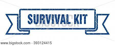 Survival Kit Grunge Vintage Retro Band. Survival Kit Ribbon