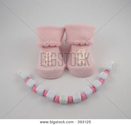Pink Booties And Beads