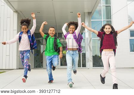 Pre-teen School Pupils Outside Of The Classroom