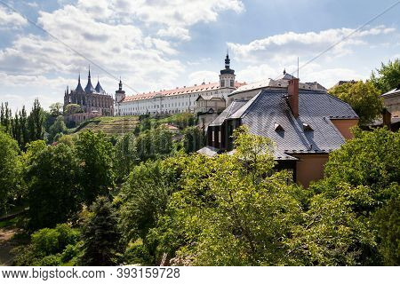 Roman Catholic Saint Barbaras Church And Jesuit College In Kutna Hora, Sunny Summer Day, Czech Repub