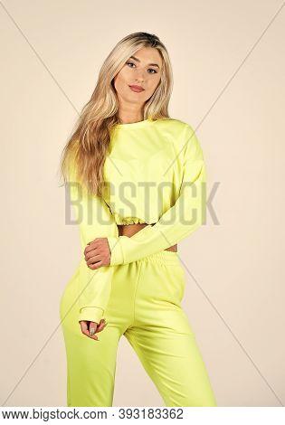 Gym Fashion. Trendy Sportswear. Sport Style. Fitness Woman Wear Sportswear. Girl In Training Clothes