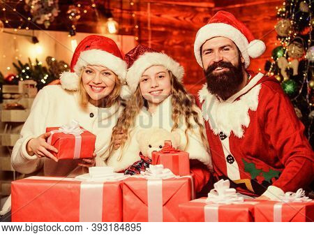 Fill Our Christmas With Joy And Cheer. Christmas Memories. Happy Moments. Girl At Home On Christmas