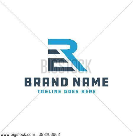 Monogram Logo Design Letter Initials Er Or Brand