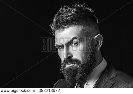 Rich Bearded Man Dressed In Classic Suits. Elegance Casual Dress. Fashion Suit. Luxury Mens Clothing