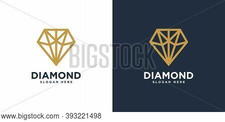 Diamond Logo Vector Designs Mono Line  Logo Design