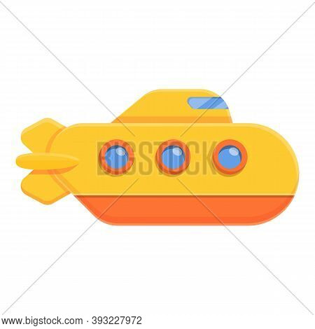 Carrier Bathyscaphe Icon. Cartoon Of Carrier Bathyscaphe Vector Icon For Web Design Isolated On Whit