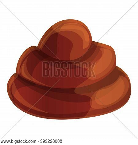 Chocolate Paste Icon. Cartoon Of Chocolate Paste Vector Icon For Web Design Isolated On White Backgr