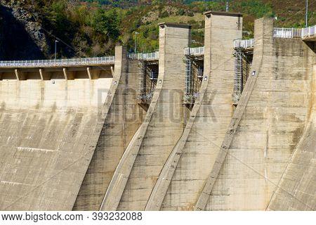 Bubal Dam in Tena Valley, Pyrenees, Huesca province, Aragon in Spain.