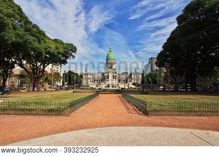 Buenos Aires, Argentina - 02 May 2016: The Parliament House In Buenos Aires, Argentina