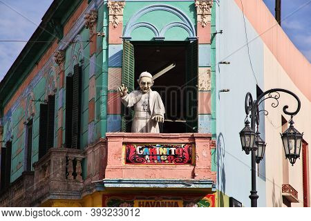 Buenos Aires, Argentina - 02 May 2016: The Art In La Boca District Of Buenos Aires, Argentina