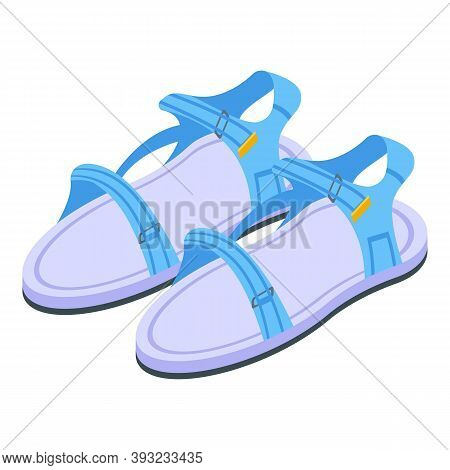 Shop Sandals Icon. Isometric Of Shop Sandals Vector Icon For Web Design Isolated On White Background
