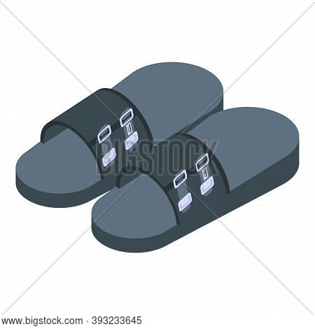 Training Sandals Icon. Isometric Of Training Sandals Vector Icon For Web Design Isolated On White Ba
