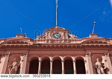 Buenos Aires, Argentina - 03 May 2016: Pink Palace In Buenos Aires, Argentina