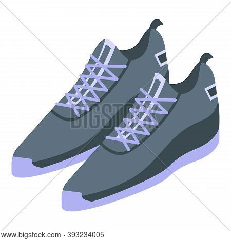 Fashion Sneakers Icon. Isometric Of Fashion Sneakers Vector Icon For Web Design Isolated On White Ba