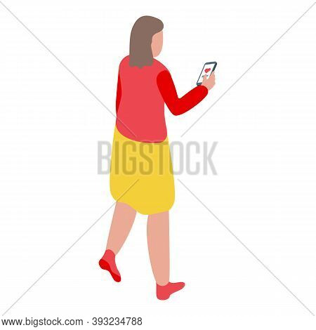 Online Dating Love Sms Icon. Isometric Of Online Dating Love Sms Vector Icon For Web Design Isolated