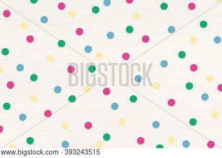 Colorful polka dot patterned background design resource