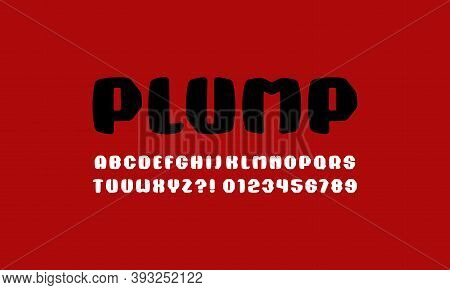 Plump Sans Serif Font With Rounded Corners. Letters And Numbers For Sport  Logo And Emblem Design. C