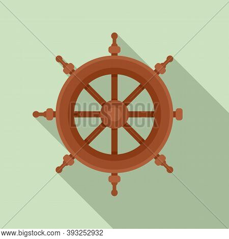 Cruise Steering Wheel Icon. Flat Illustration Of Cruise Steering Wheel Vector Icon For Web Design