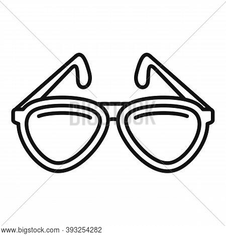 Cruise Sunglasses Icon. Outline Cruise Sunglasses Vector Icon For Web Design Isolated On White Backg