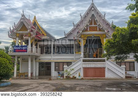 Wat Khao Chong Pran Temple For People Pray To Buddha And Look Hundred Million Bats From Khao Chong P