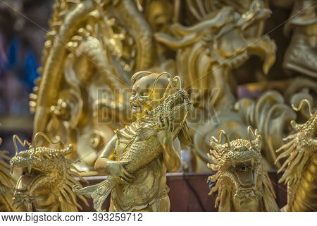 Chonburi, Thailand - 21,08,2018 : Ang Sila Chinese Temple Or Wihan Thep Sathit Phra Kitti Chaloem -