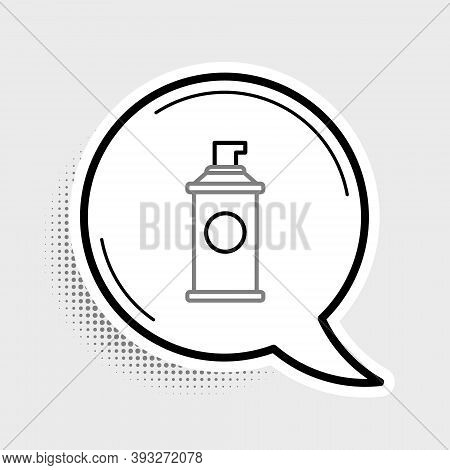 Line Shaving Gel Foam Icon Isolated On Grey Background. Shaving Cream. Colorful Outline Concept. Vec