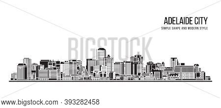 Cityscape Building Abstract Shape And Modern Style Art Vector Design -   Adelaide City