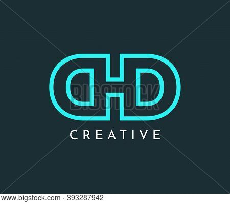 Alphabet D And D Combined Logo Template.letter H And D Vector Design Illustration.logo For Gaming, B