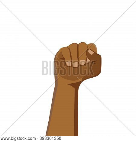 Demonstration, Revolution, Protest Raised. Clenched Fist Held In Protest. Symbol Of Freedom, Fight,