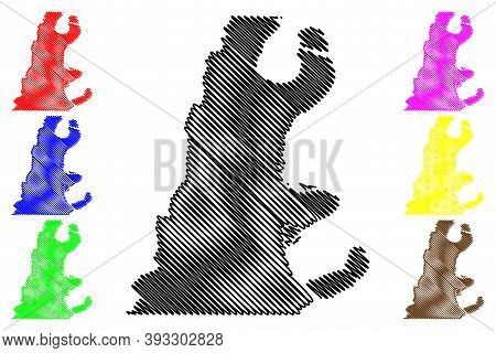 East Carroll County, Louisiana (u.s. County, United States Of America, Usa, U.s., Us) Map Vector Ill