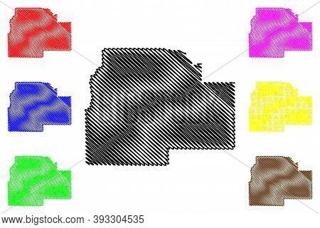 Lincoln County, Louisiana (u.s. County, United States Of America, Usa, U.s., Us) Map Vector Illustra