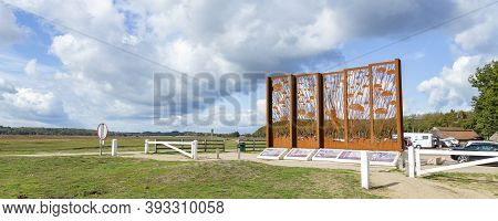 Ede, The Netherlands - October 10, 2020: Airborne Memorial Windows At The Past On Ginkel Heath In Ed