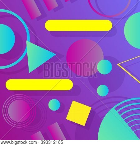 Geometric Abstract Background. Modern Composition With Geometric Shapes. Trendy Geometric Background