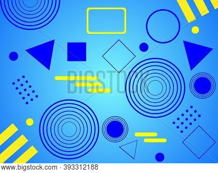 Geometric Background Design. Trendy Geometric Background. Simple Geometric Shapes. Modern Compositio