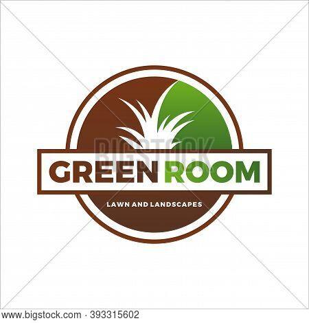 Grass Logo. Landscape And Lawn Care Logo Design Vector Template